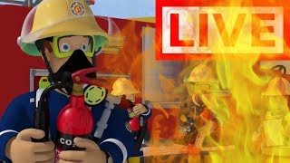 🔴Fireman Sam LIVE 🔥All The best Adventures ! 🚒 Fireman Sam Collection 🚒 🔥 Kids Movies