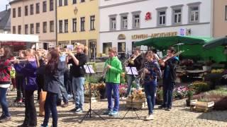 """Flashmob """"Das Steigerlied"""" in Annaberg-Buchholz am 23.09.2014"""
