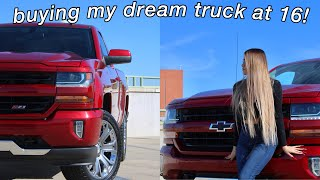 BUYING MY FIRST/DREAM TRUCK AT 16! *TRUCK TOUR*