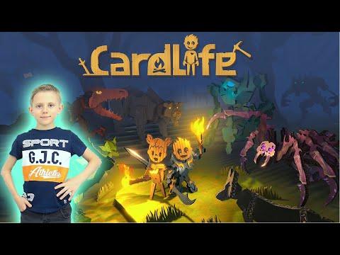 Cardlife игра про выживание в картонном мире - Даник играет в CardLife Creative Survival