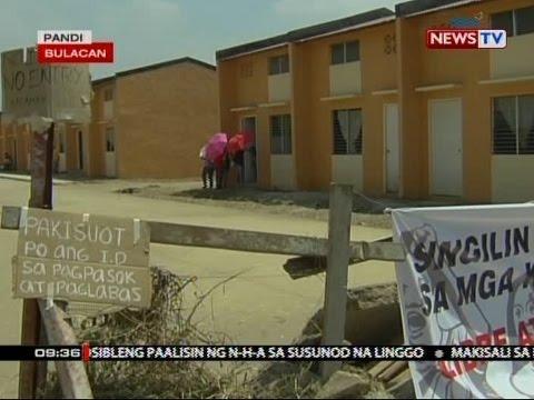 Eviction notice ng NHA sa mga ilegal na umokupa sa ilang housing unit sa Bulacan, ihahain na