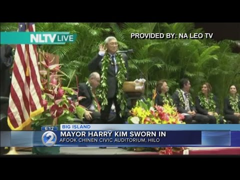 Harry Kim sworn in as Hawaii Island mayor