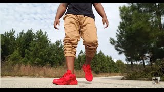 "NIKE AIR HUARACHE ""TRIPLE RED"" REVIEW AND ON FEET!!!"