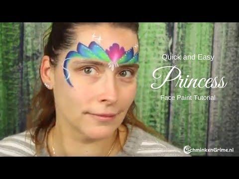 Princess Face Paint    Quick Face Paint Tutorial   2 Minute Face Paint