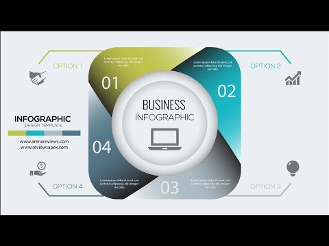 HOW TO MAKE AN INFOGRAPHIC BUSINESS DESIGN TEMPLATE VECTOR Illustrator Tutorial