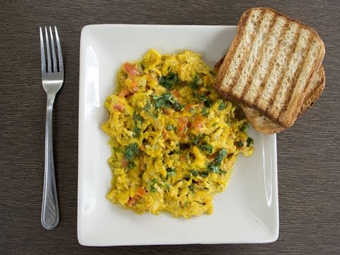 Akuri (Parsi recipe for scrambled eggs)