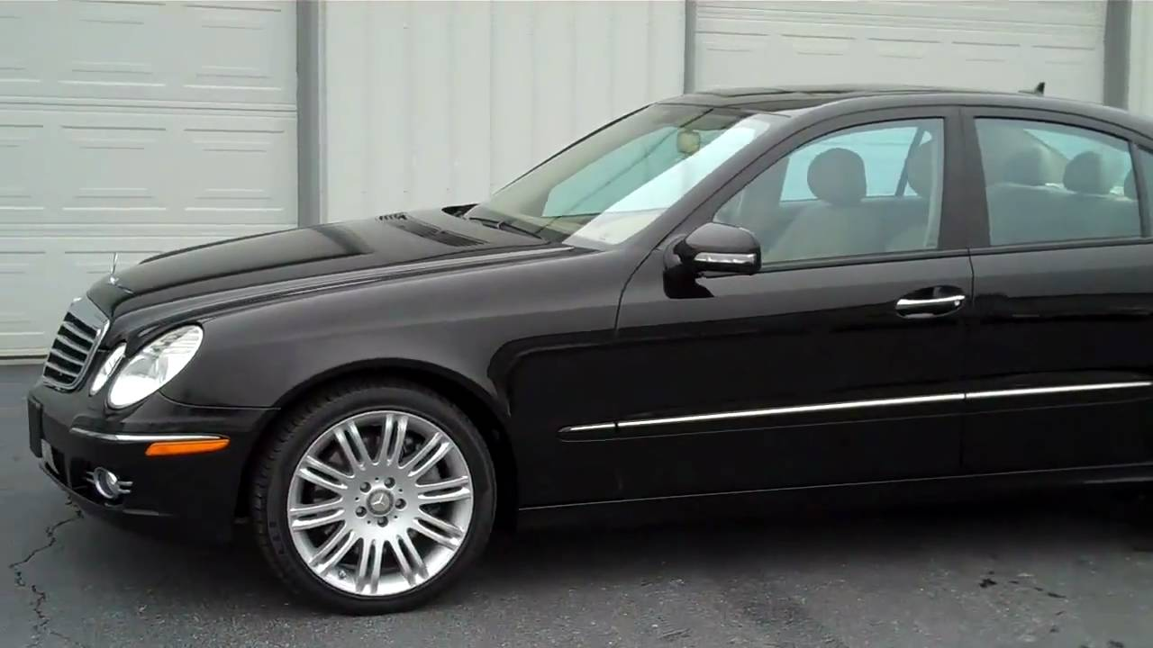 2008 mercedes benz e350 4matic black 29 000 miles youtube. Black Bedroom Furniture Sets. Home Design Ideas