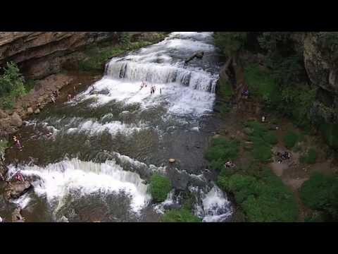 Cascade Falls and Willow Falls MN/WI waterfalls Drone footage w/ DJI phantom 2 vision +
