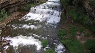 cascade falls and willow falls mn wi waterfalls drone footage w dji phantom 2 vision