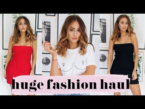 HUGE FASHION HAUL & TRY ON! | TOPSHOP URBAN OUTFITTERS NEW LOOK | FASHION SLAVE SOPHIE MILNER