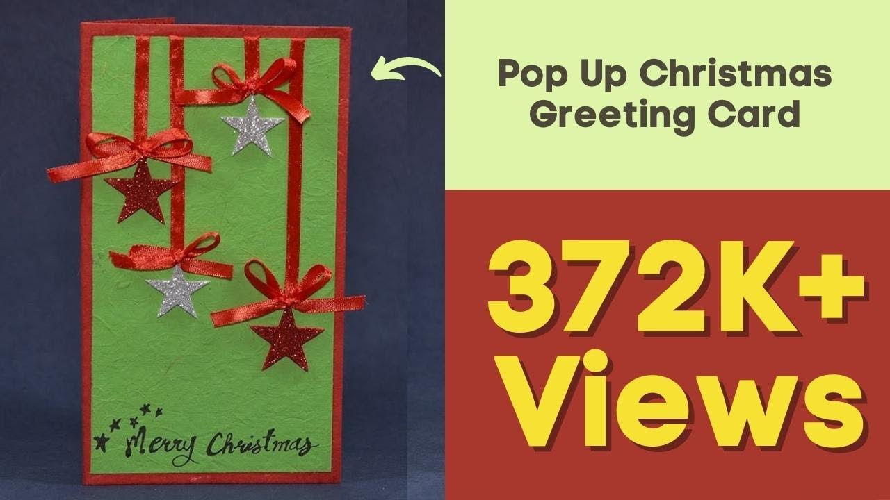 Handmade Pop Up Christmas Greeting Card How To Diy Tutorial Youtube