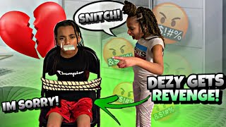 DEZY GETS REVENGE ON KD FOR SNITCHING😈!! ( Kids Skits )