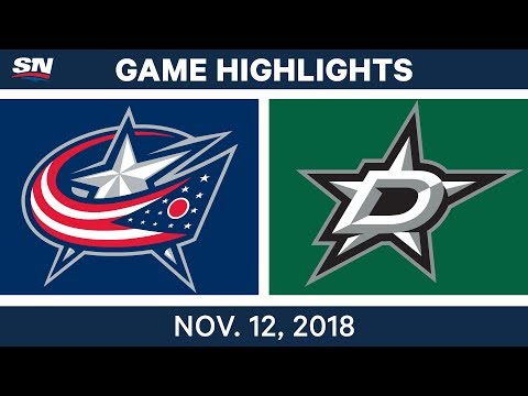 NHL Highlights | Blue Jackets vs. Stars – Nov. 12, 2018