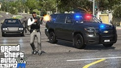 GTA 5 LSPDFR #746 Convoy of Unmarked Chevy Tahoe's Escorting A VIP Limo(Los Santos Protection Squad)