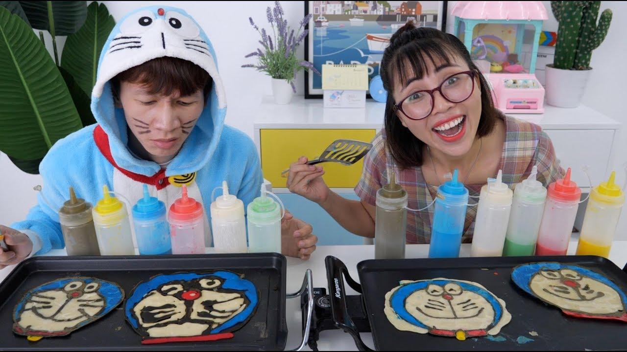 Thử Thách Vẽ Bánh Pancake Doraemon