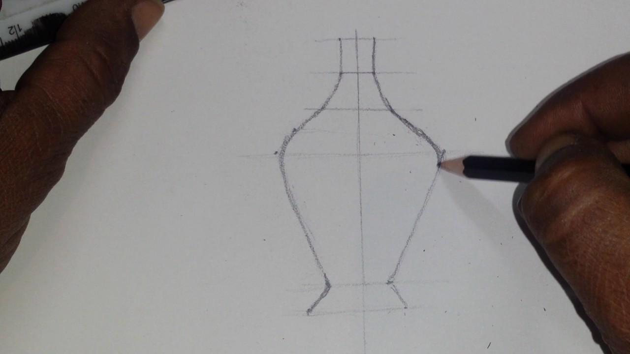 تعليم طريقه رسم مزهريه من خزف Youtube