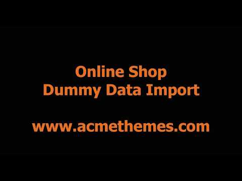 Online Shop eCommerce WordPress Theme Demo Import