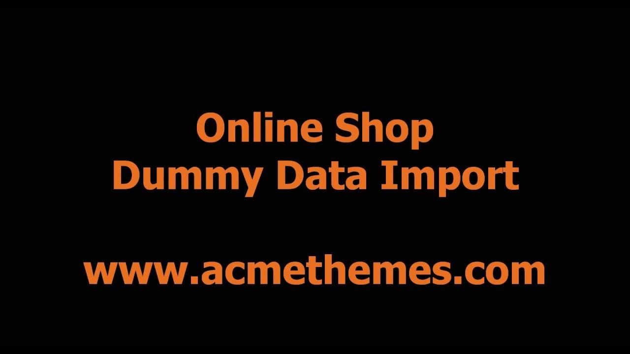 Online Shop eCommerce WordPress Theme Demo Import