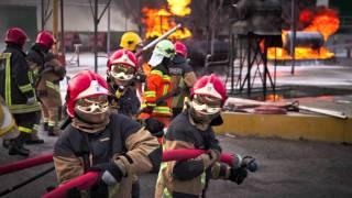 addestramento antincendio VVF svizzeri