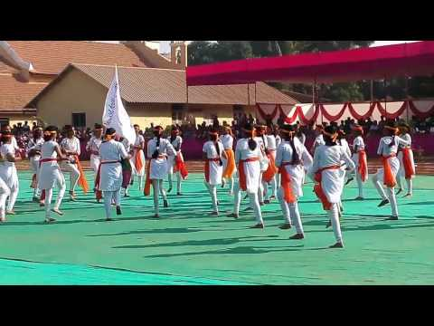 Lezim performed by students of St Anthony High School Malwani Malad West on School Annual Sports Day