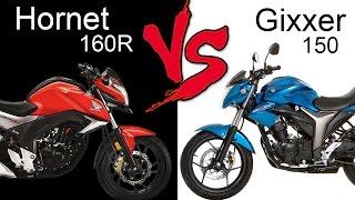 Honda CB Hornet 160R Vs Suzuki Gixxer 150 | Comparison Review (EXTENDED)