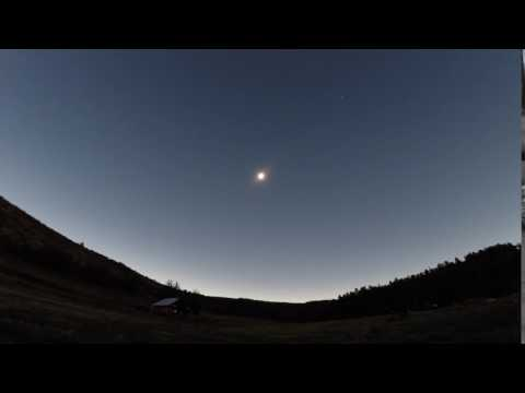 2017 Total Solar Eclipse - Approaching Moon Shadow