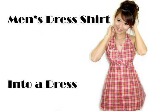 Men's Dress Shirt Into a Dress - YouTube