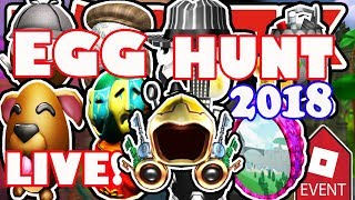 Roblox Egg Hunt 2018 LIVE STREAM! - Ready Player One Dominus Event Search in Yolktales!