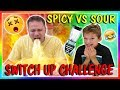 SUPER SPICY VS SOUR SWITCH UP | We Are The Davises