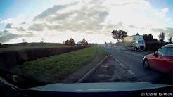 Towing vehicle crash - Somerset, UK (NO SOUND)