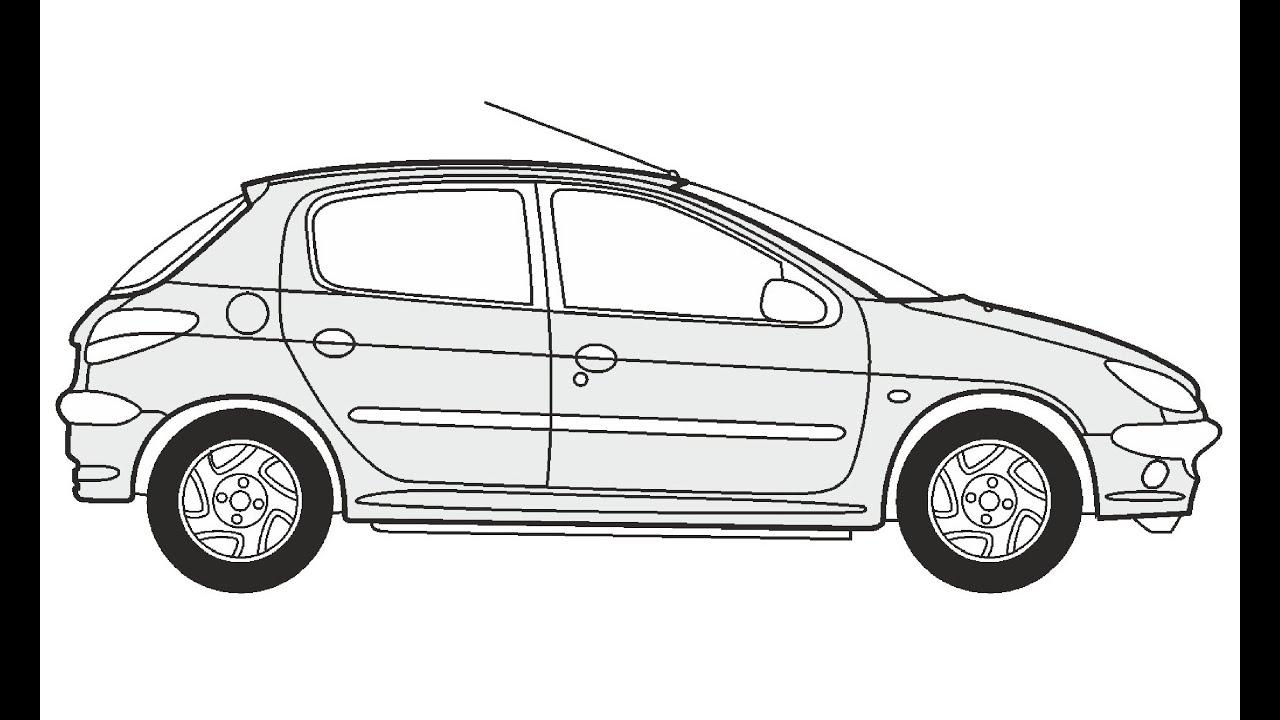 How to Draw a Peugeot 206 / Как нарисовать Peugeot 206