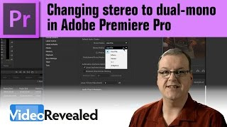 Changing stereo to dual-mono in Adobe Premiere Pro