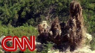 Images appear to show destruction of N. Korea nuke site