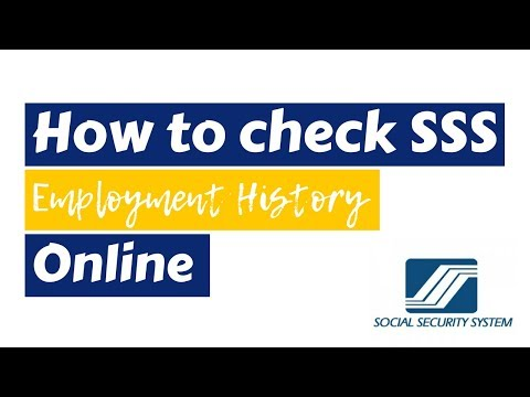 How to check SSS Employment History Online