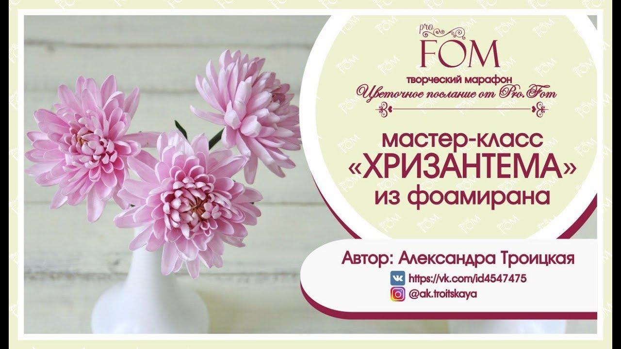 Pro.FOM/Про.ФОМ/Мастер-класс Хризантемы из фоамирана - Александра Троицкая