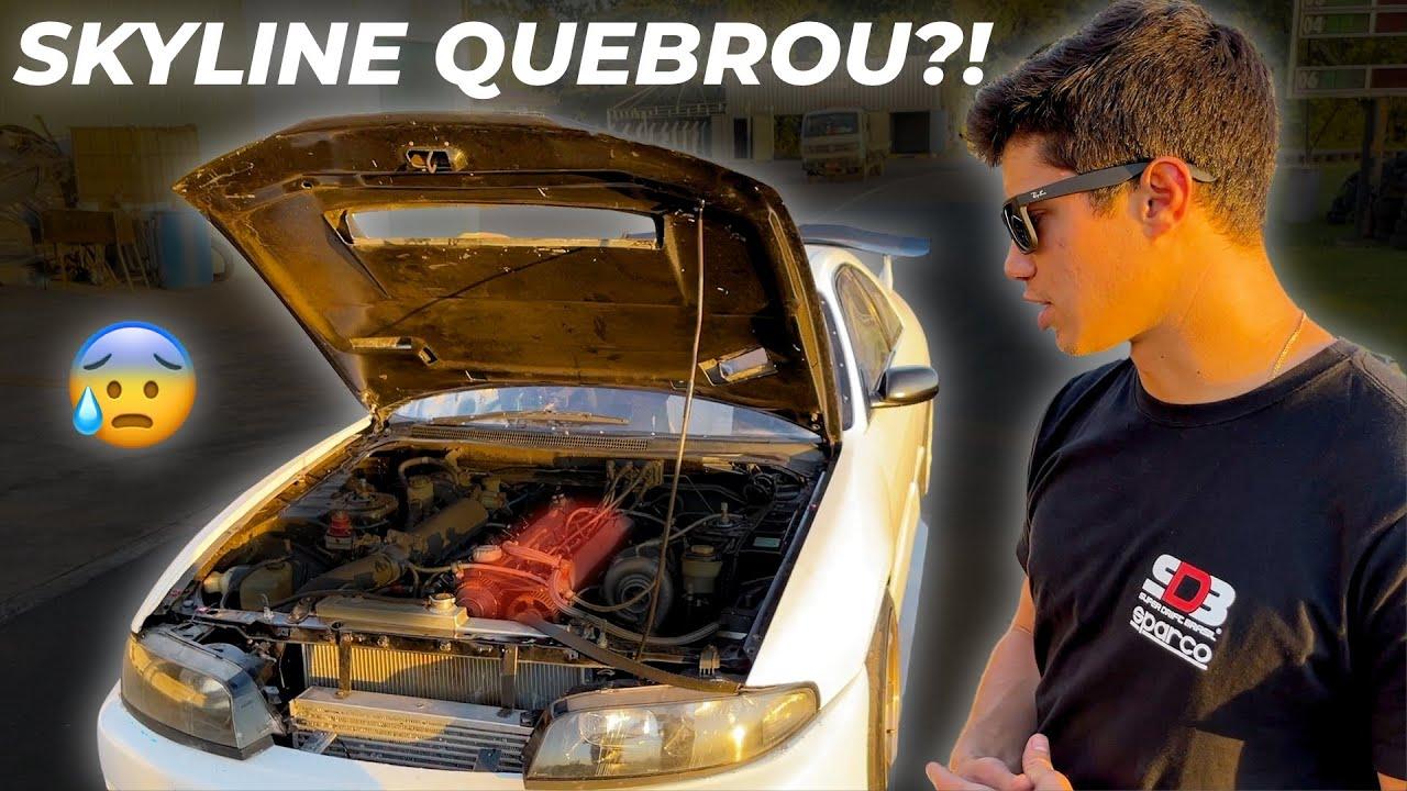 Quebrei o motor do meu Nissan Skyline fazendo Drift! ‹Diego Higa›