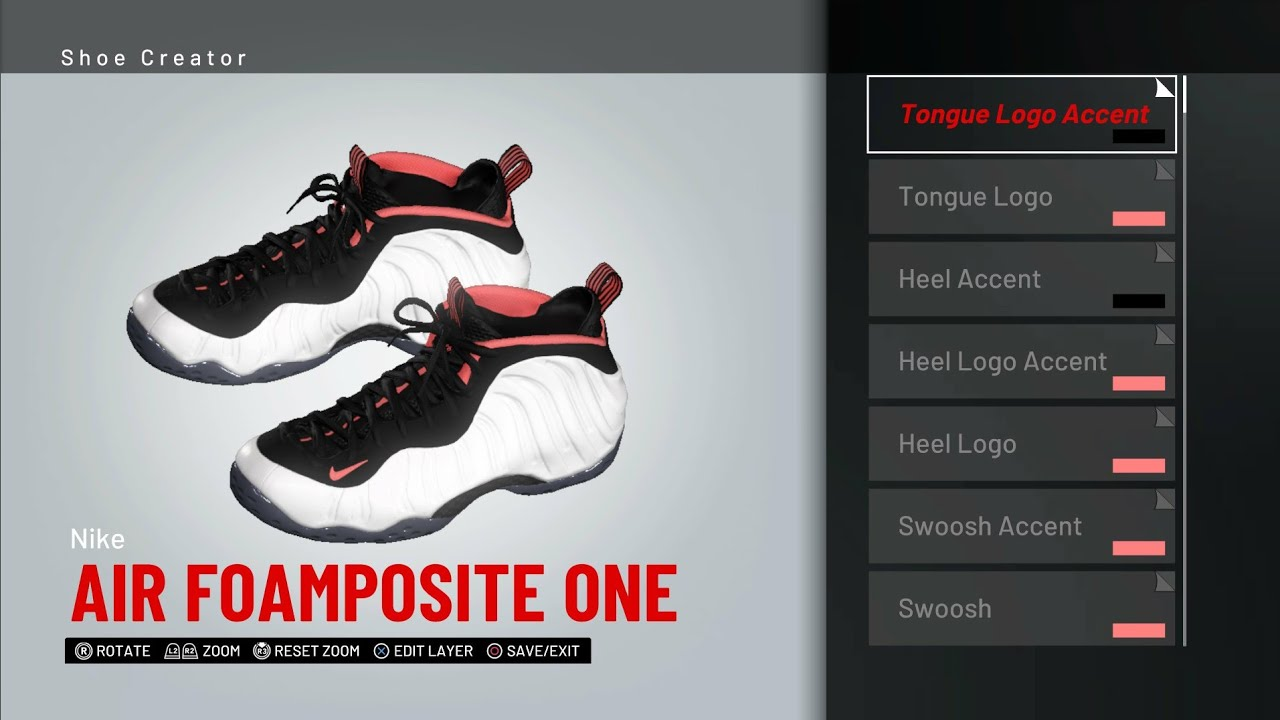 NBA 2K19 Shoe CreatorNike Foamposite One Polarized ...