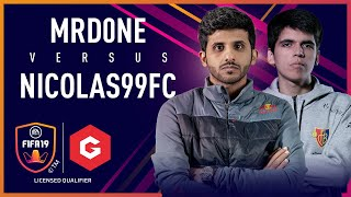 FCB Nicolas vs Mr D0ne - Gfinity FIFA Series February LQE