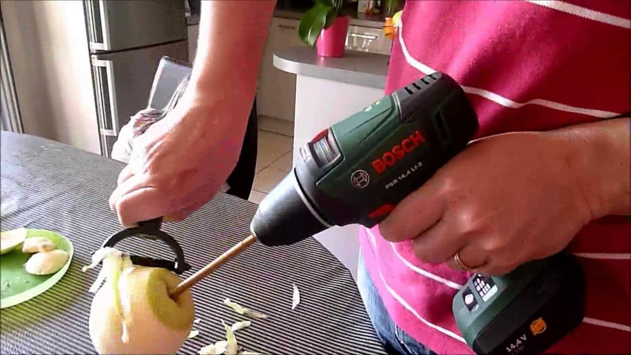 Eplucher pommes avec perceuse bosch doovi for Poncer avec une perceuse