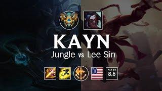 Kayn Jungle vs Lee Sin - NA Challenger Patch 8.6
