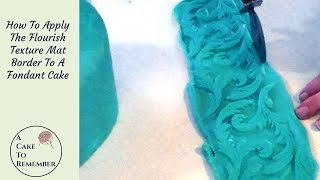 How to use the large silicone mats on a cake tier . Cake decorating tutorials