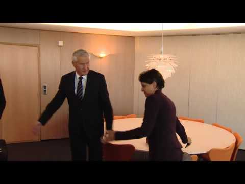Thorbjørn JAGLAND meets Najat VALLAUD-BELKACEM
