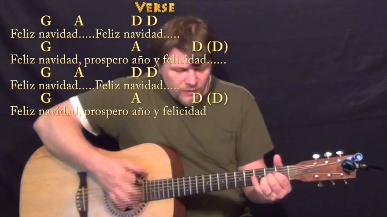 Feliz Navidad Christmas Guitar Cover Lesson With Chords And Lyrics