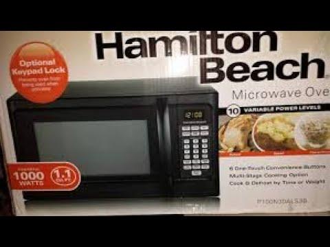 hamilton beach 1000 watt microwave from walmart review