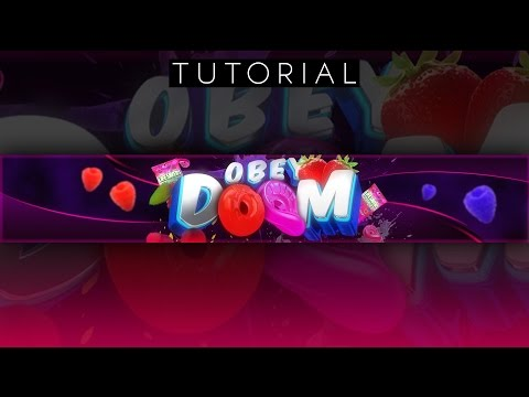 WICKED 3D Fruity Youtube Banner Tutorial | Photoshop CC & Cinema 4D