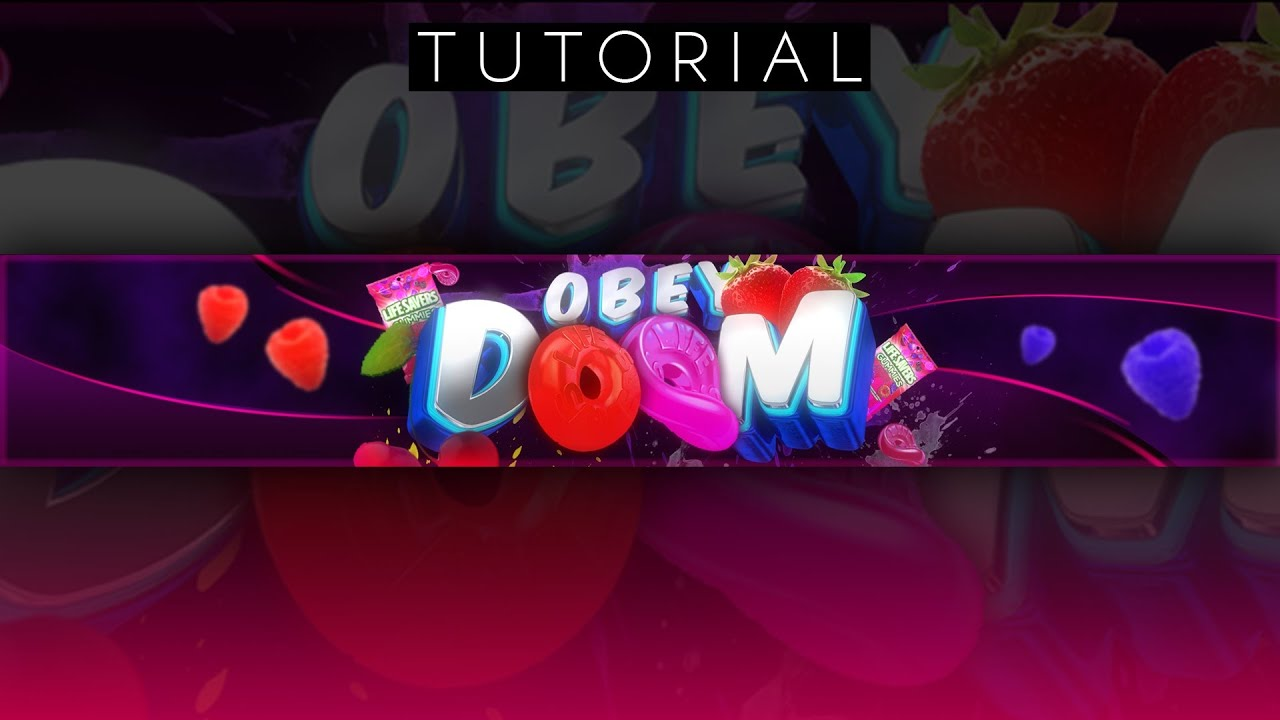 WICKED 3D Fruity Youtube Banner Tutorial Photoshop CC