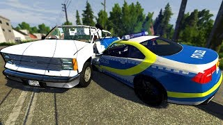 Insane Police Chases with an Apocalyptic Truck! - BeamNG Gameplay & Crashes - Cop Escape