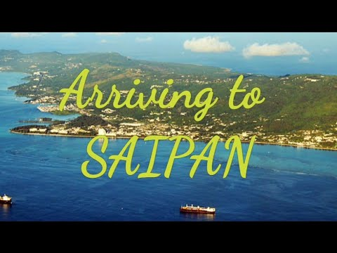 Arriving to Saipan!