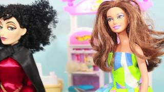 Barbie Toy Stopping Anna & Kristoff Tangled Mother Gothel