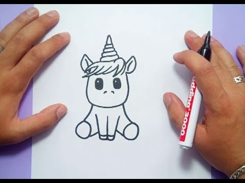 Como dibujar un unicornio paso a paso 4 | How to draw a unicorn 4 ...